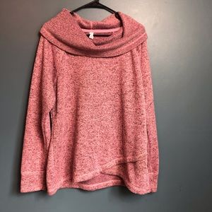 Ideology XL Yoga Relaxed Slouch Sweatshirt Pink